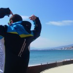 Loving the Beach in TeamJacket! YAOWWW